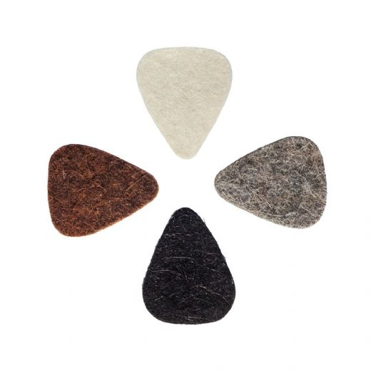 Felt Tones Mini Mixed Pack of 4 Guitar Picks